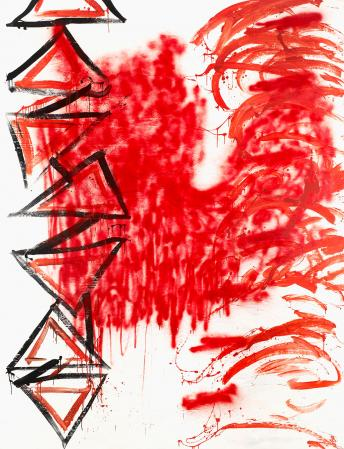 ter Hell · <strong>Power of example</strong> · 2011 · 300 x 230 cm · acrylic, spray on canvas