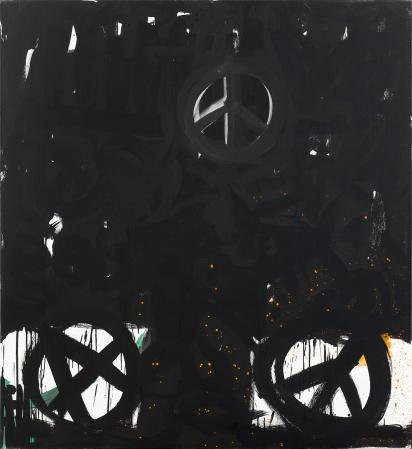 ter Hell · <strong>Young tree</strong> · 2013 · 180 x 165 cm · acrylic, spray on canvas