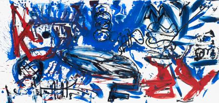 ter Hell · <strong>NK–NY (Synekdoche 2/4)</strong> · 2013 · 4-part · each 90 x 190 cm · oil on canvas