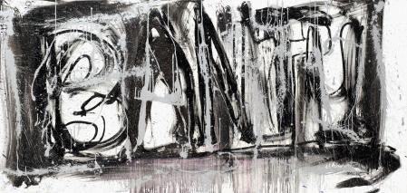 ter Hell · <strong>Bantu (Synekdoche 3/4)</strong> · 2013 · 4-part · each 90 x 190 cm · oil on canvas