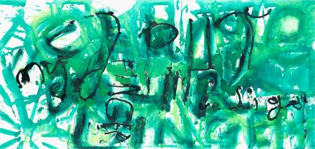 ter Hell · <strong>Change Linger (Synekdoche 4/4)</strong> · 2013 · 4-part · each 90 x 190 cm · oil on canvas
