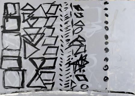 ter Hell · <strong>Protokoll</strong> · 2013 · 235 x 330 cm · acrylic, oil, spray on canvas
