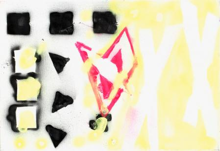 ter Hell · untitled (from Blackbook) · 2012 · 55x80 · spray on canvas