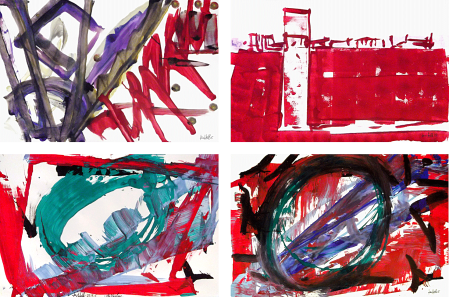 ter Hell · untitled · 2015 · each 140 x 110 cm · acrylic on paper