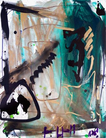ter Hell · <strong>In the land of black, green and gold</strong> · 2016 · 85 x 65 cm · acrylic on canvas