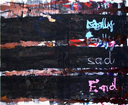 ter Hell · <strong>Sad End</strong> · 2015 · 132 x 160 cm · acrylic on canvas