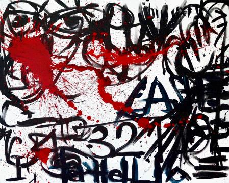 ter Hell · <strong>Neue Identität</strong> [New identity] · 2016 · 200 x 250 cm · acrylic on canvas