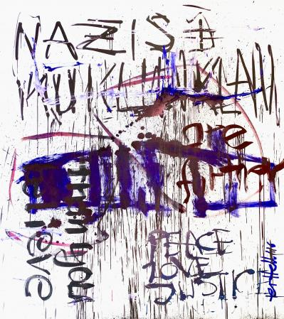 ter Hell · <strong>Nazis and Ku Klux Klan are further than you believe</strong> · 2016 · 190 x 170 cm · acrylic on canvas